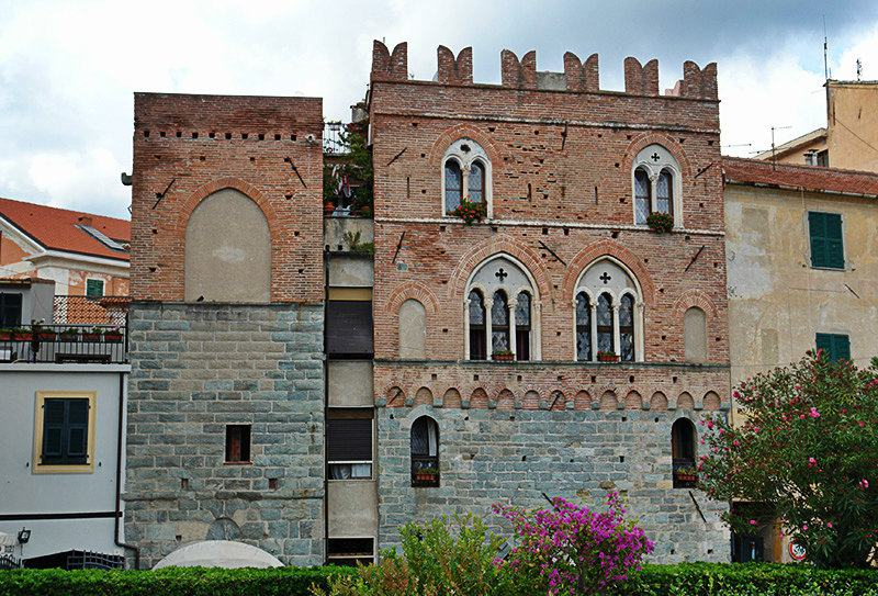 View from Casa Pagliano of Noli in Liguria