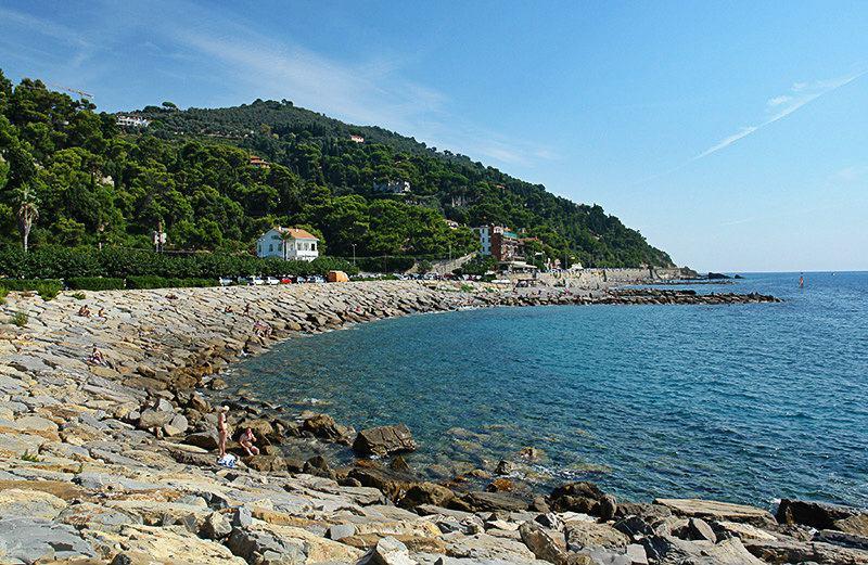 A view of a beach in Imperia, Oneglia