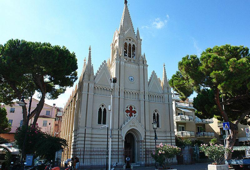 Church Ave Maris Stella in the center of Imperia