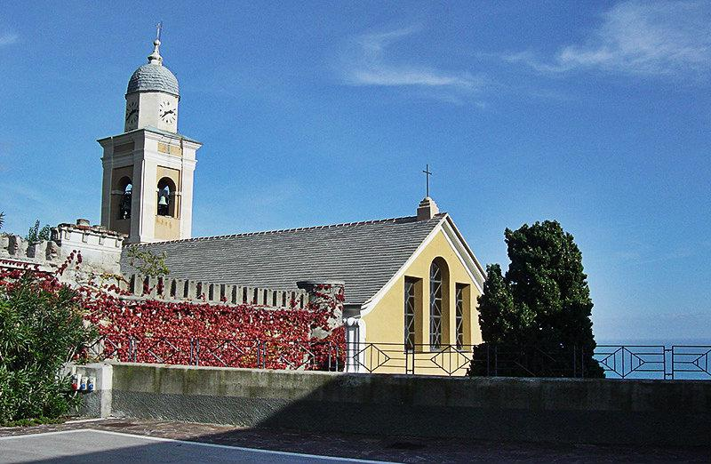 A wonderful church in Bergeggi next to the sea