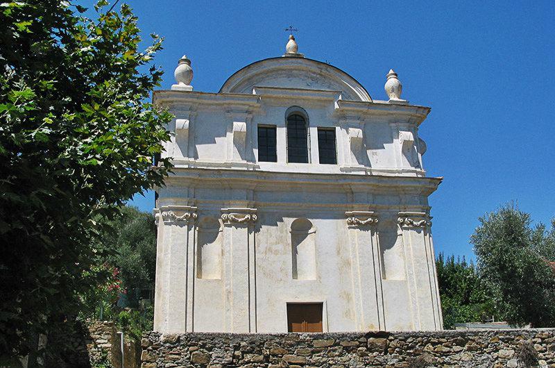 A church in Moltedo, Liguria