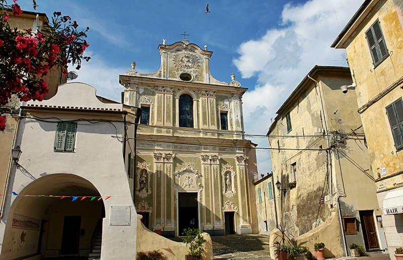 A church in Riva Ligure