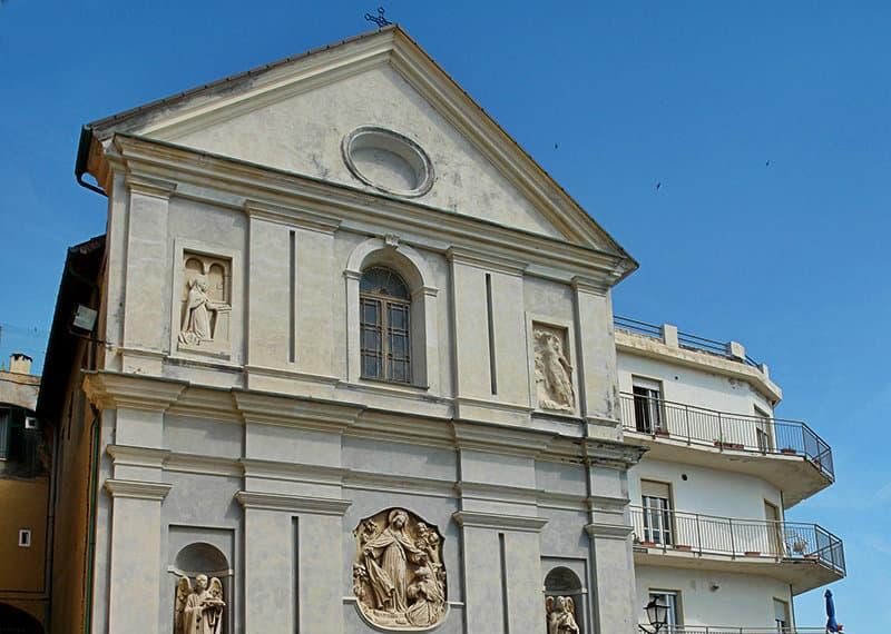 A church in Santo Stefano al Mare