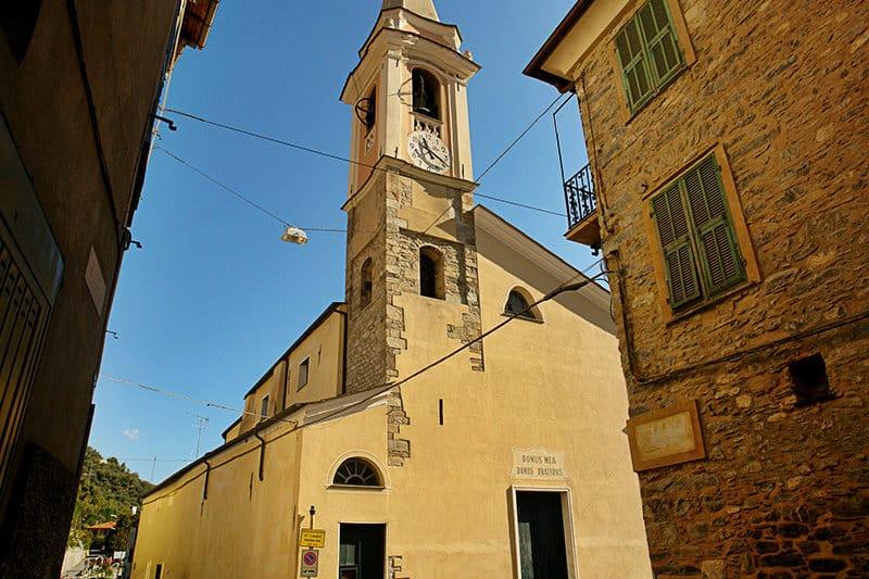 A beautiful church in Vessalico, Liguria