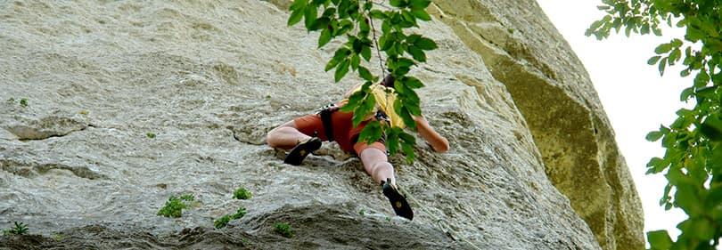 Climbing on a mountain in Liguria