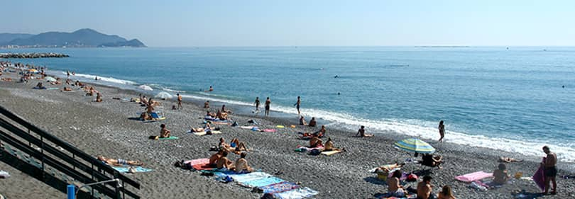 Beach in Lavagna, Liguria