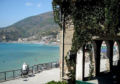 Beach in Levanto, Liguria