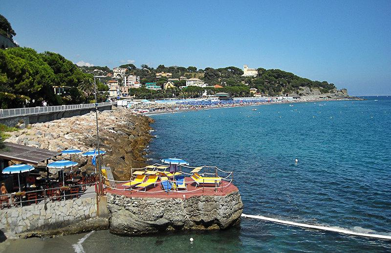 A wonderful view of Celle Ligure and the sandy beach