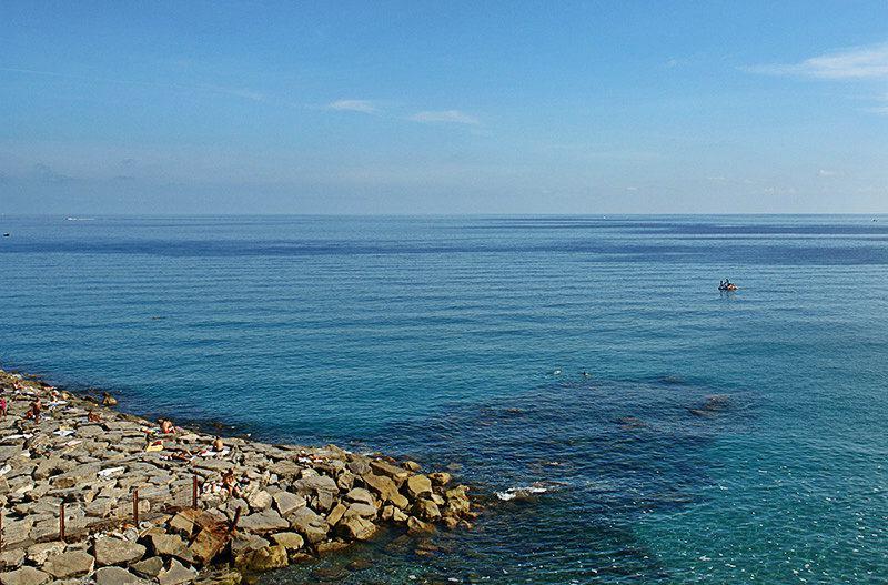 Beautiful seaview of Imperia, Porto Maurizio in Liguria