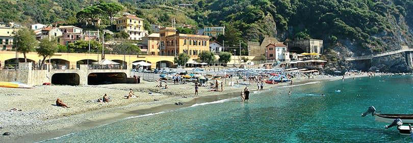 Beach in Monterosso al Mare, Cinque Terre