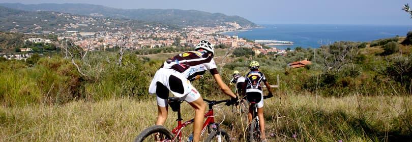 Cyclists in Liguria