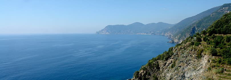 View of La Spezia in mountain biking tour
