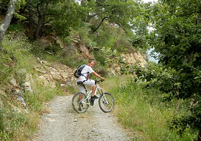 Mountain bike tour in Imperia Via Cresta, Liguria