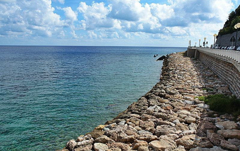 A beautiful seaview from Noli, city in Liguria