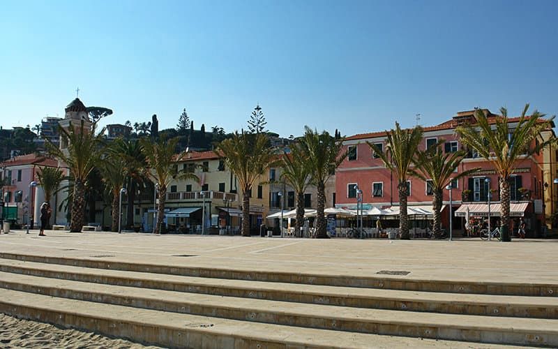The famous square of Tizziano Chierotti in Arma di Taggia