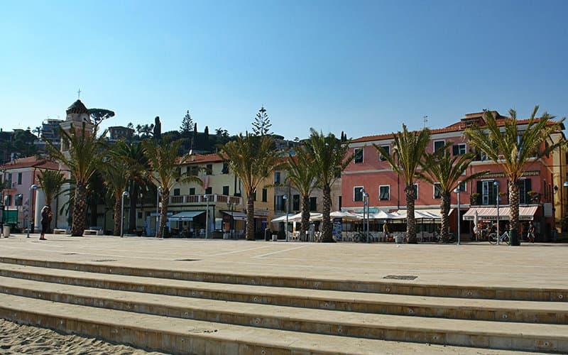 The famous square of Tizziano Chierotti in Arma di Taggia