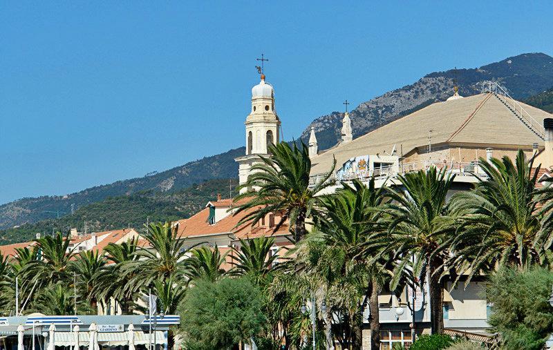 A beautiful view of a holiday destination Pietra Ligure
