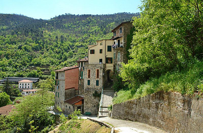 A view of a picturesque town of Pigna in Liguria