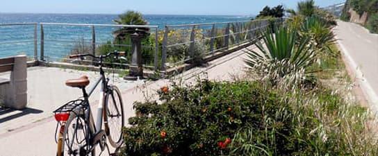 Pista Ciclabile pike path in Liguria