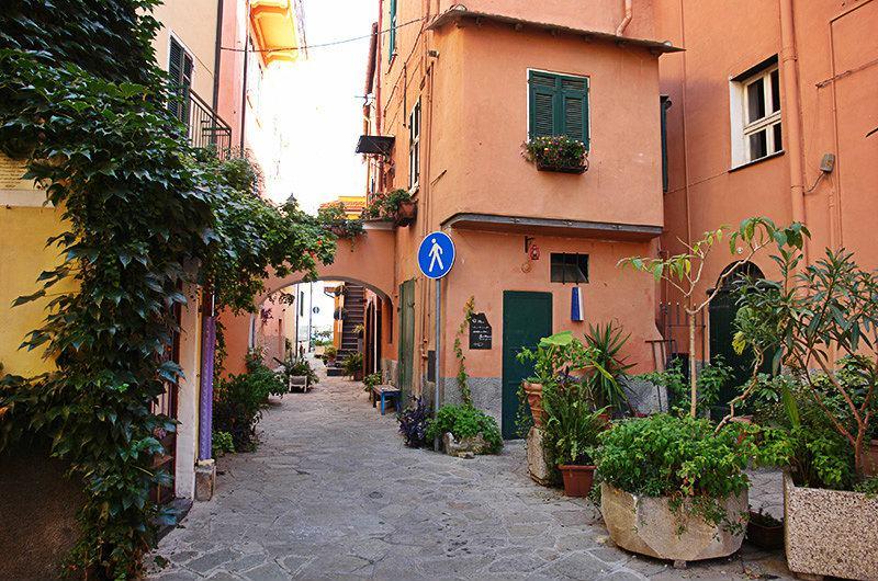 A romantic street in Imperia, Porto Maurizio