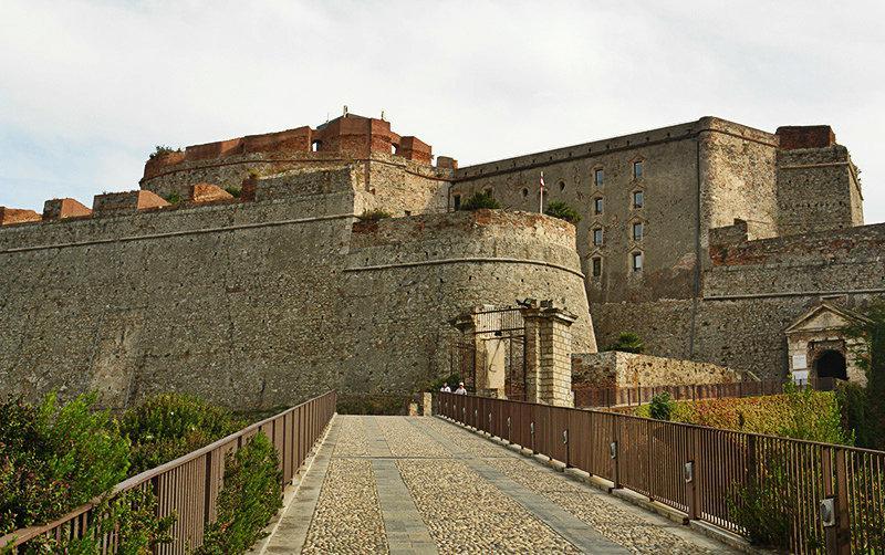A view of Castello Priamar in Savona