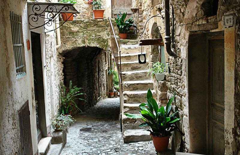 A romantic street in Apricale