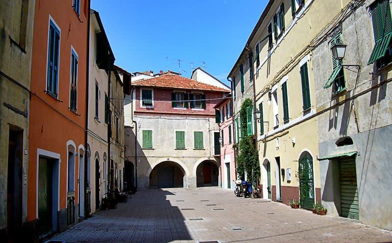 An old square in San Bartolomeo al Mare