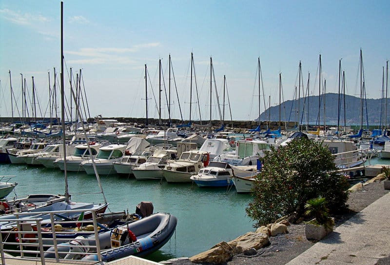 A beautiful port of San Bartolomeo al Mare