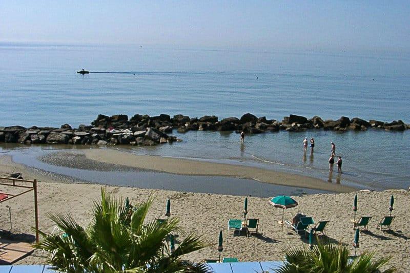 A beautiful sandy beach of San Bartolomeo al Mare