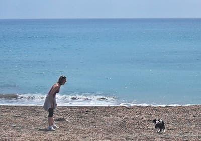 Dog beach in San Lorenzo al Mare