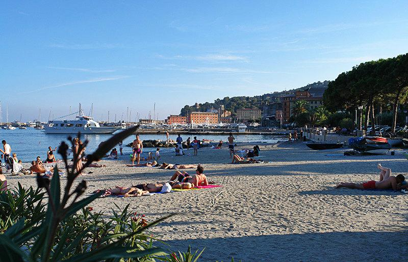 A beautiful view of Santa Margherita Ligure and its beach
