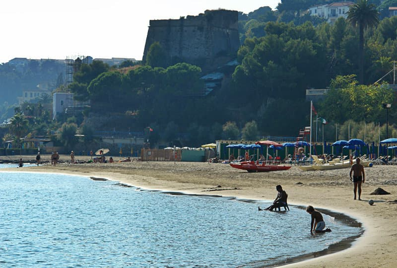 Sandy beach in Arma di Taggia