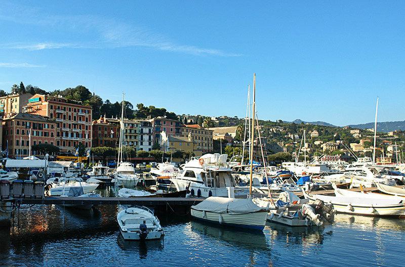 A beautiful view of Santa Margherita Ligure and its port