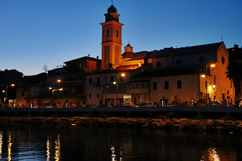 View of the oldtown of Santo Stefano al Mare