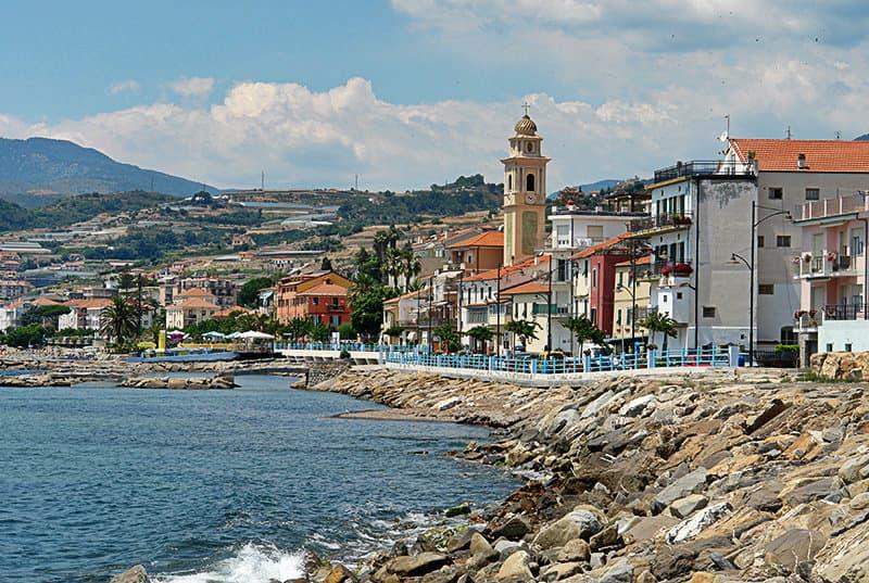 View of a wonderful city of Santo Stefano al Mare