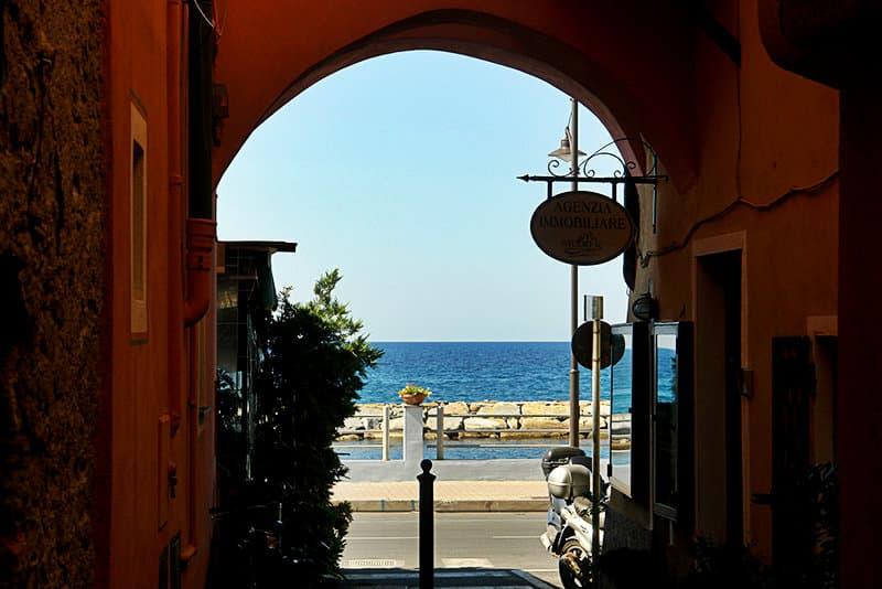 View of a street in Santo Stefano al Mare