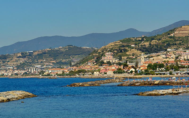 A wonderful panoramic view of Santo Stefano al mare
