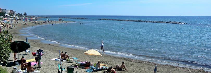 Beach in the province of Imperia, Liguria