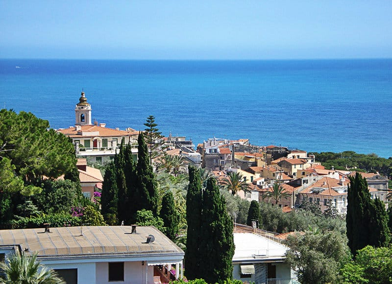 A beautiful view of the old town of Bordighera