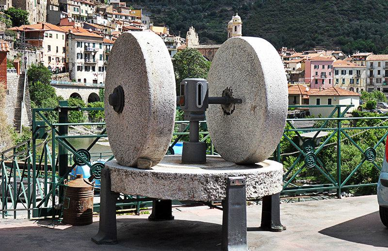 An old sculpture in Badalucco, Liguria