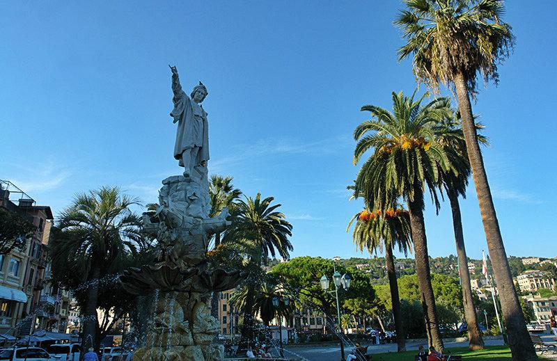 An old sculpture in Santa Margherita Ligure