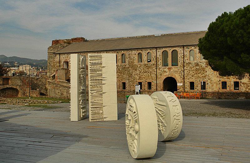Sculptures of Castle Priamar in Savona
