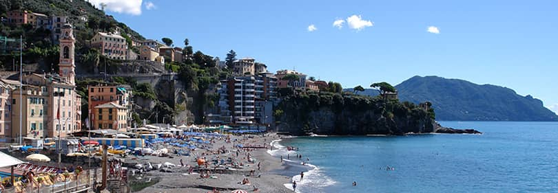 Beach in Sori, Liguria