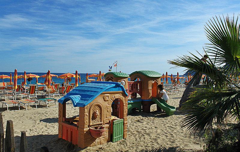 Playground next to the beach in Bergeggi