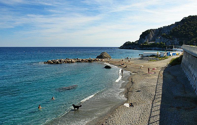 View of a beach in Bergeggi