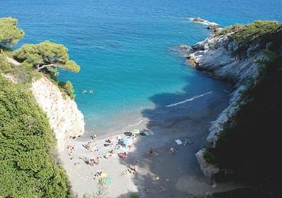 Beach in Bergeggi, Liguria