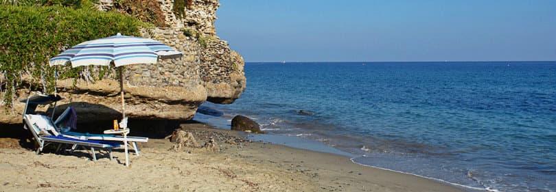Beach in Bussana, Liguria