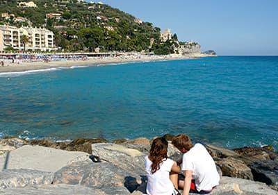 Beach in Finale Ligure, Liguria