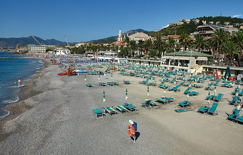 A beautiful view of Pietra Ligure and its beach