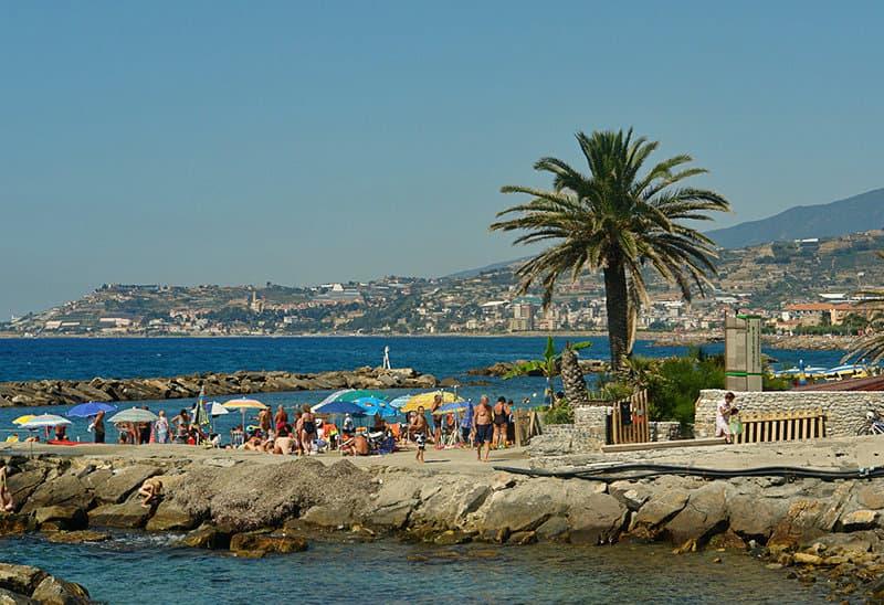 View of a beautiful holiday resort Riva Ligure